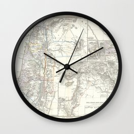 Old 1865 Historic State of Palestine Map Wall Clock