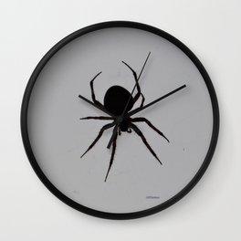 Orb Weaver Silhouette Wall Clock
