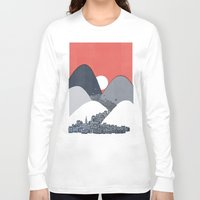 sun Long Sleeve T-shirts featuring Midnight Sun by David Fleck