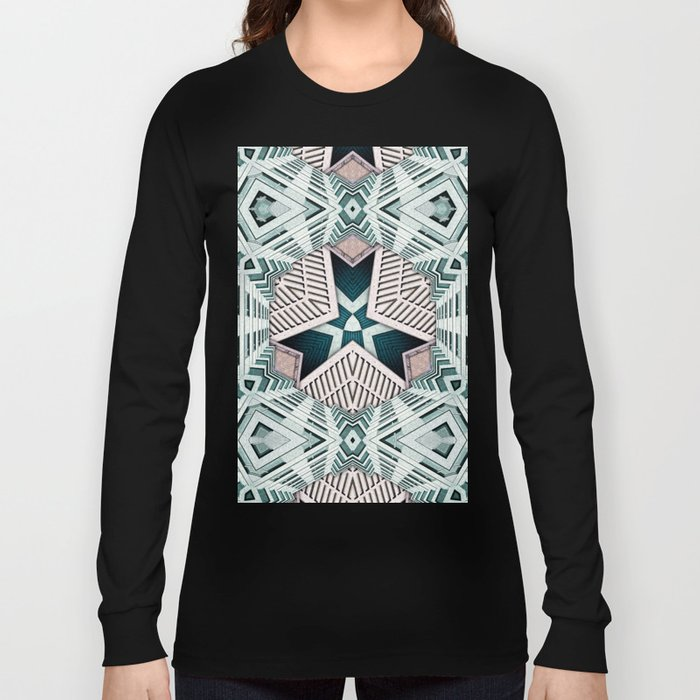 City Buildings Abstract 4 Long Sleeve T-shirt