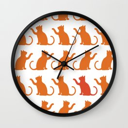 Cat Lineup Wall Clock