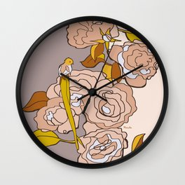 All we need is roses Wall Clock