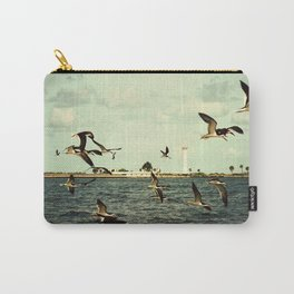 Lighthouse and Skimmers Carry-All Pouch