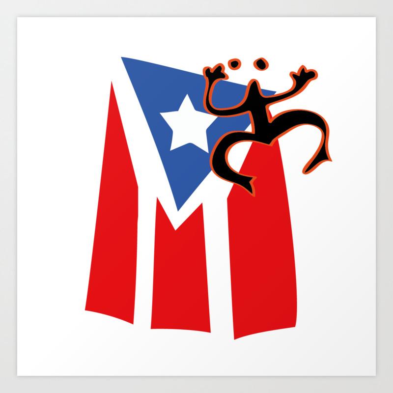 Mi Bandera Puerto Rico Art Print By Pmsarchitect Society6