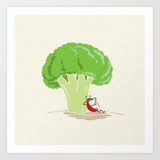 Cauliflower Tree Art Print