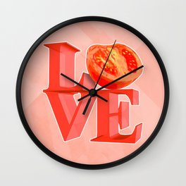I LOVE TOMATO !!! Wall Clock