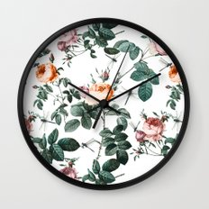 Floral and Winged Darter Wall Clock