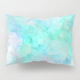Iridescent Aqua Marble Pillow Sham