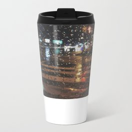 rainy bokeh Metal Travel Mug