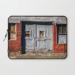 In the Door Series, wooden weather beaten textured doors Laptop Sleeve