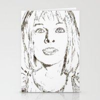 fifth element Stationery Cards featuring Leeloo Fifth Element sketch- Milla Jovovich  by Robin Stevens