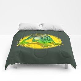 Yoga Downward Facing Frog Comforters