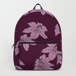Lily The Tiger - Purple Backpack