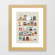 The shelf Framed Art Print