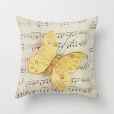 Dance of the Butterfly Throw Pillow