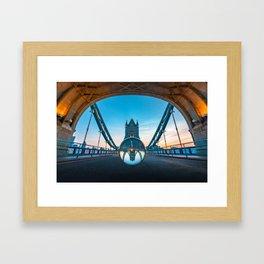 London Crystal Bridge Framed Art Print