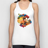 luffy Tank Tops featuring Luffy Attack by feimyconcepts05