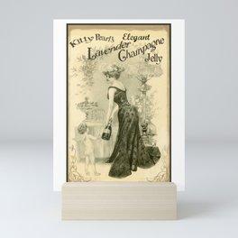 Kitty Pearl's Elegant Lavender Champagne Jelly Mini Art Print