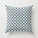 Beige & Off White Uniform Polka Dots Pattern on Blue 2020 Color of the Year Chinese Porcelain by pipafineart