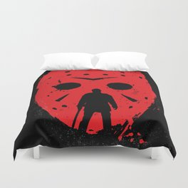 Friday the 13th Jason mask Duvet Cover