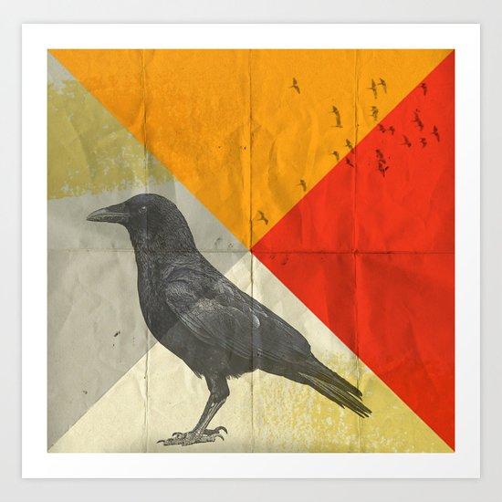 angle of a ravin Art Print