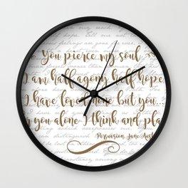 Jane Austen Persuasion Quote  Wall Clock