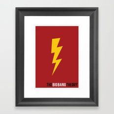 The Big Bang Theory - Minimalist Framed Art Print