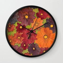 Primroses Wall Clock