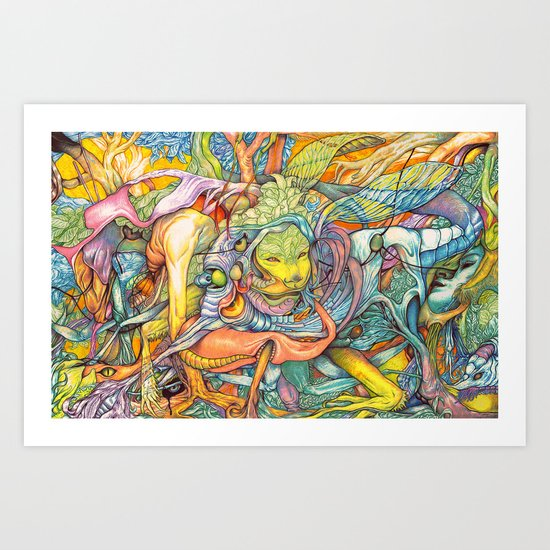 Compositions insect ( nightmare in summer ) Art Print