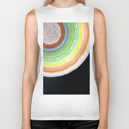 Colorful Abstract Slice of Giant Jawbreaker Candy Biker Tank