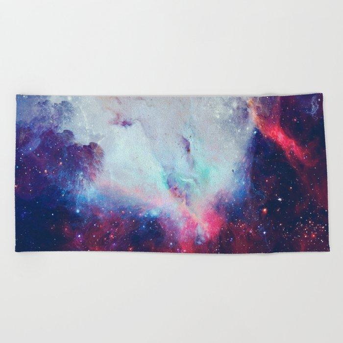 When the Universe Shine Beach Towel