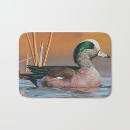 Whistling Waters, American Wigeon, 2014 Maine Duck Stamp Bath Mat