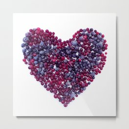 Frozen Berries heart Metal Print
