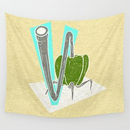 Vegetable Vacuum Cleaner V Wall Tapestry