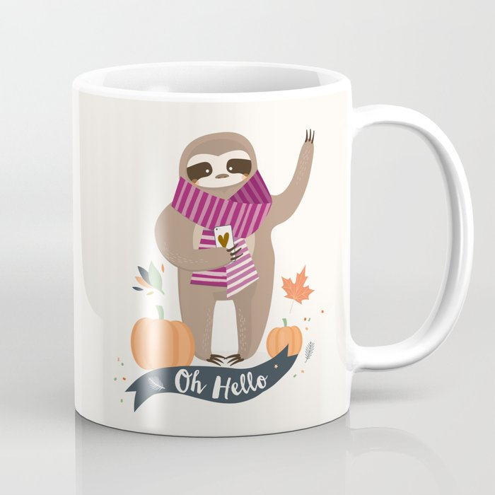 Comfy Sloth for the Fall & Pumpkin Coffee Mug