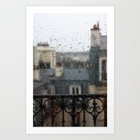 Rainy Window Art Print