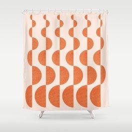 Abstraction_ROUND_WAVES_Minimalism_001 Shower Curtain