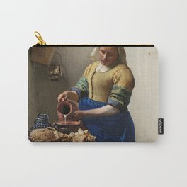 The milkmaid, Johannes Vermeer, ca. 1660 Carry-All Pouch