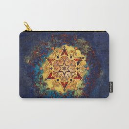Star Shine in Gold and Blue Carry-All Pouch