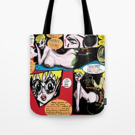 Space Chick & Nympho: Vampire Warrior Party Girl Comix #1- Neptuna in a Comic Page  Tote Bag