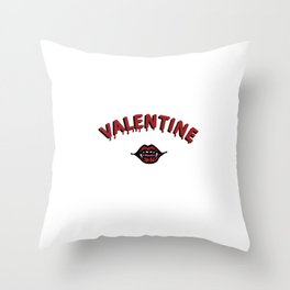 Vamp Valentine Throw Pillow