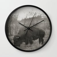 buffalo Wall Clocks featuring Buffalo  by Kaelyn Ryan Photography