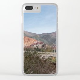 Mountain of 7 colours Clear iPhone Case