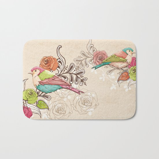 Country Garden Bath Mat