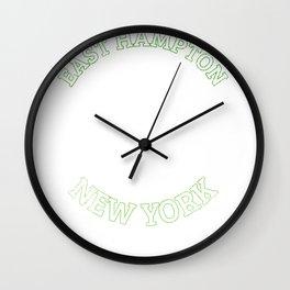 East Hampton T-Shirt New York Sailing Vacation  Wall Clock