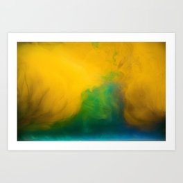 Blends of Yellow Green and Blue Art Print