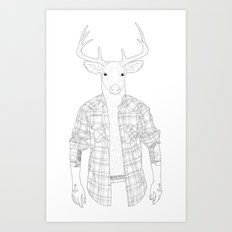 What the Deer ? Art Print
