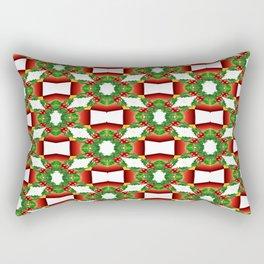 Holly Tree Tracery Rectangular Pillow
