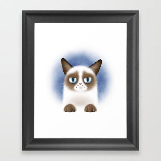 Nope (Grumpy Cat) Framed Art Print