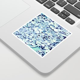 Pastel Blue FLowers Sticker